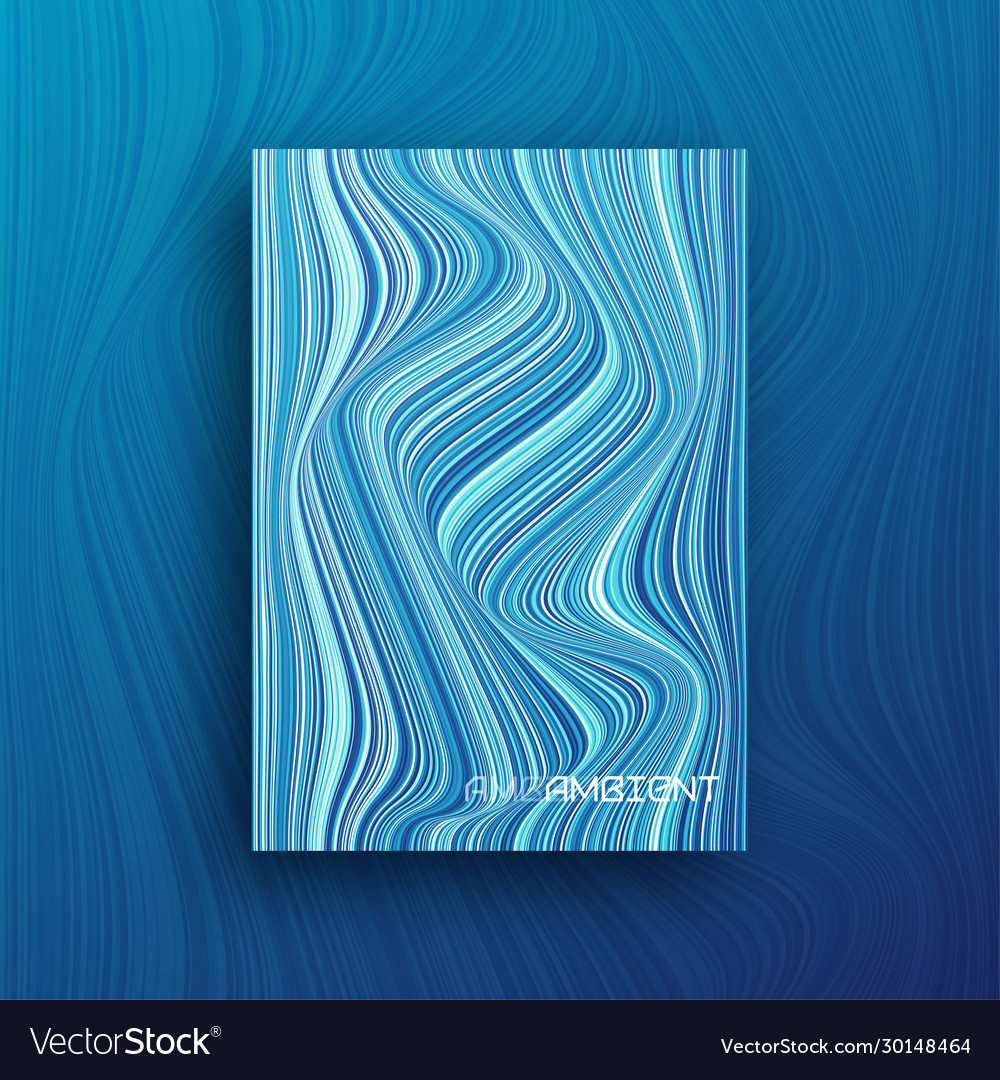Colorful abstract geometric wavy cover brochure