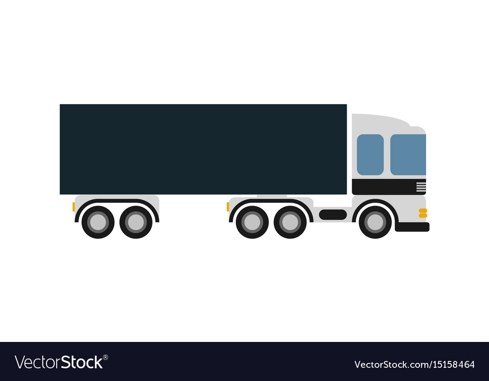 Commercial freight truck isolated icon vector image