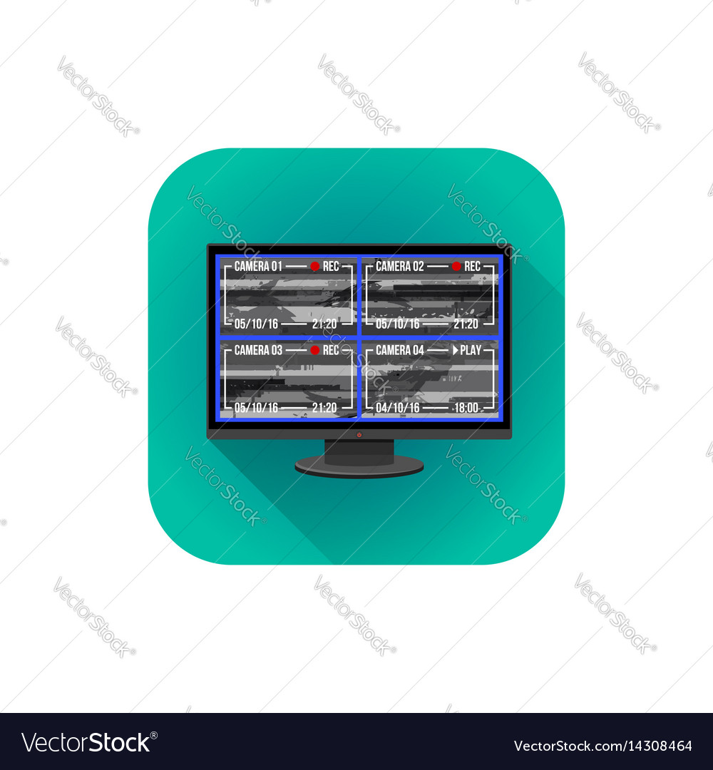Flat surveillance monitor