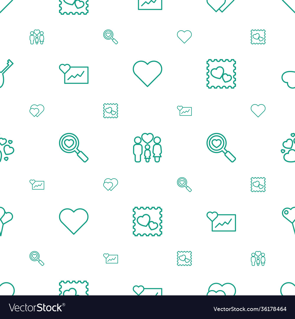 Heart icons pattern seamless white background
