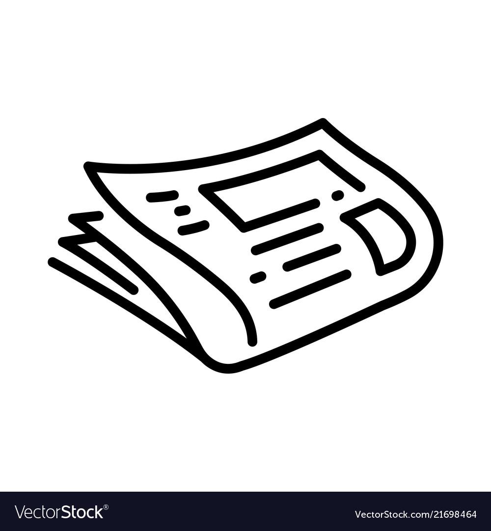 Outline Newspaper Vector Image