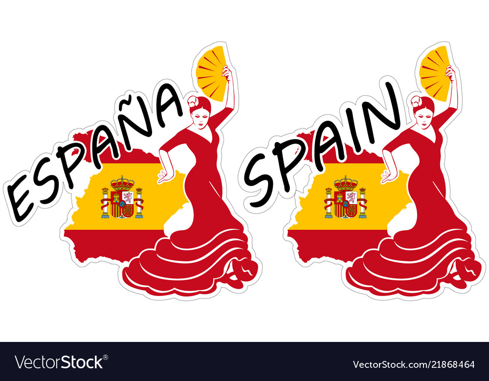 Spain in stickers