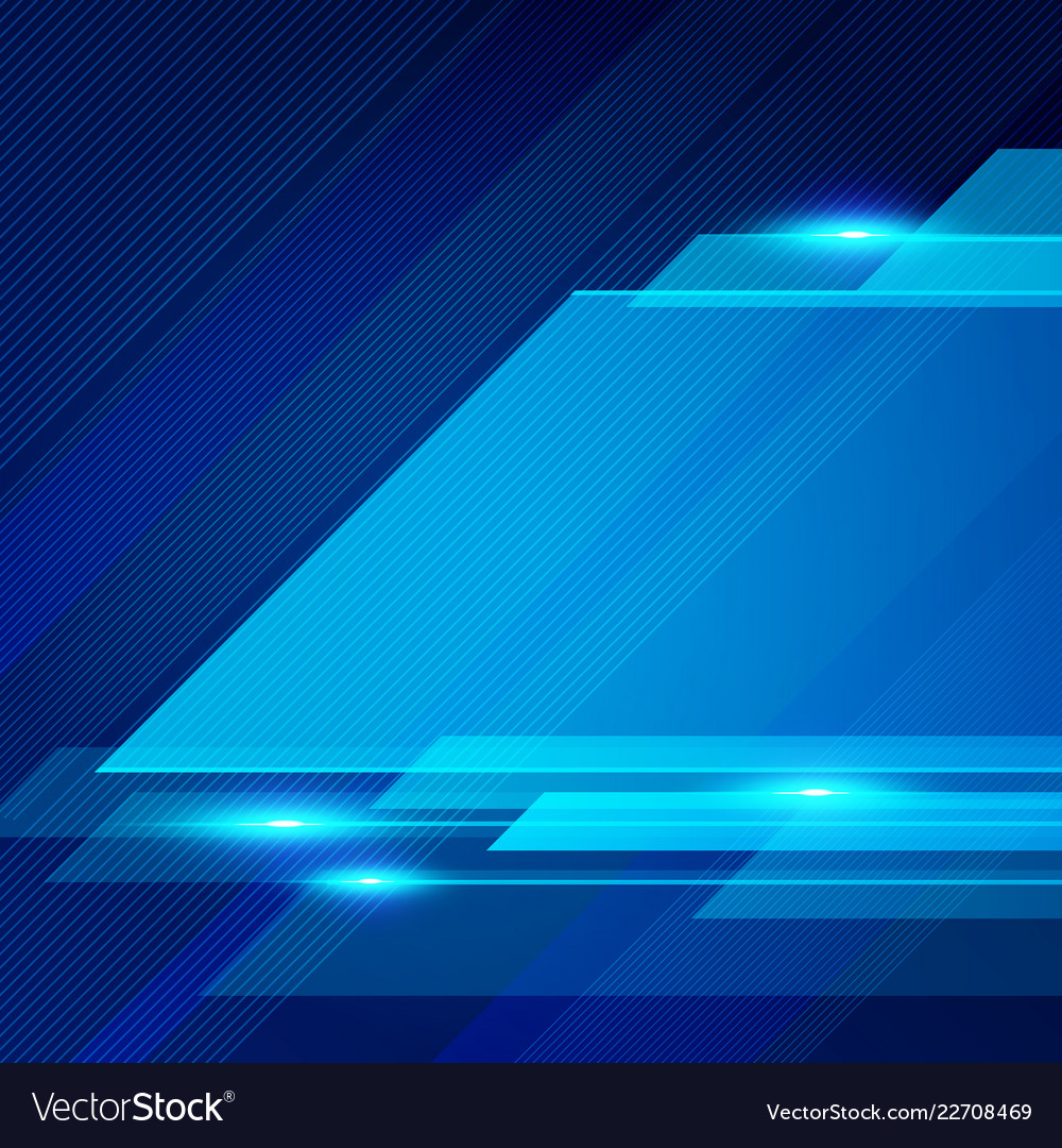 Abstract technology geometric blue color shiny