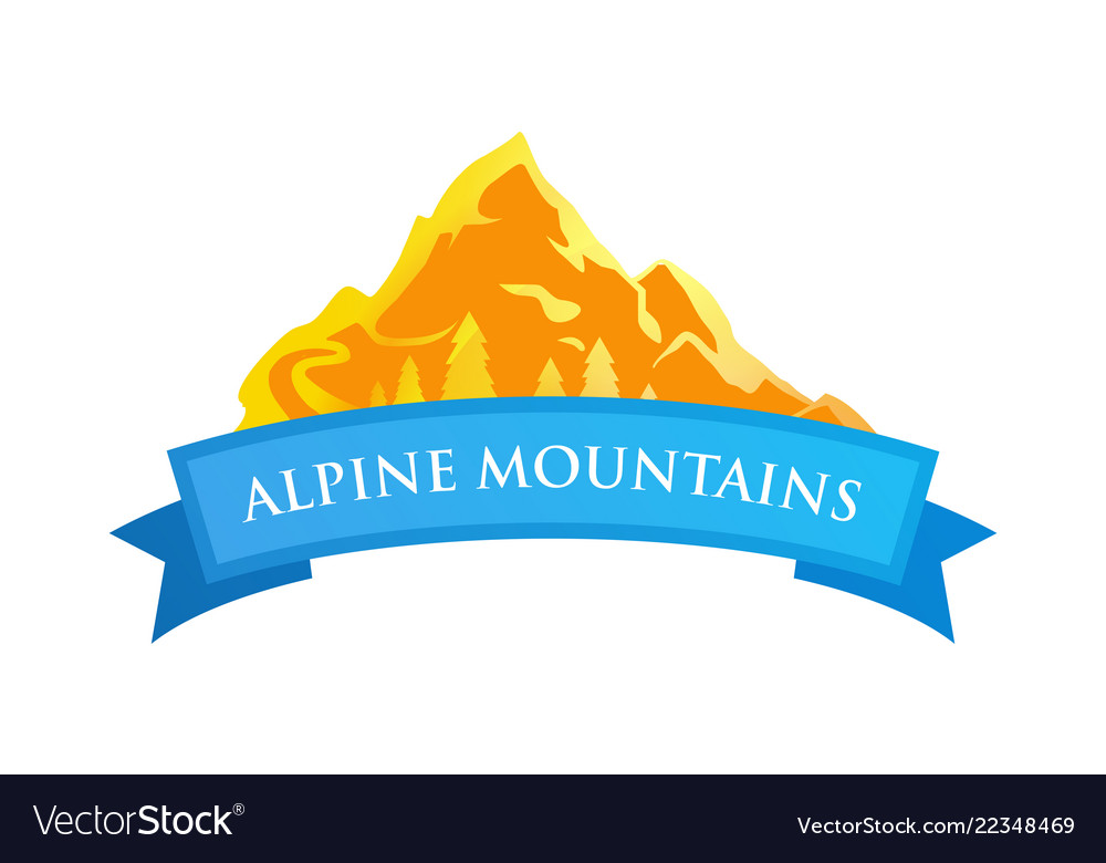 Alpine mountains emblem