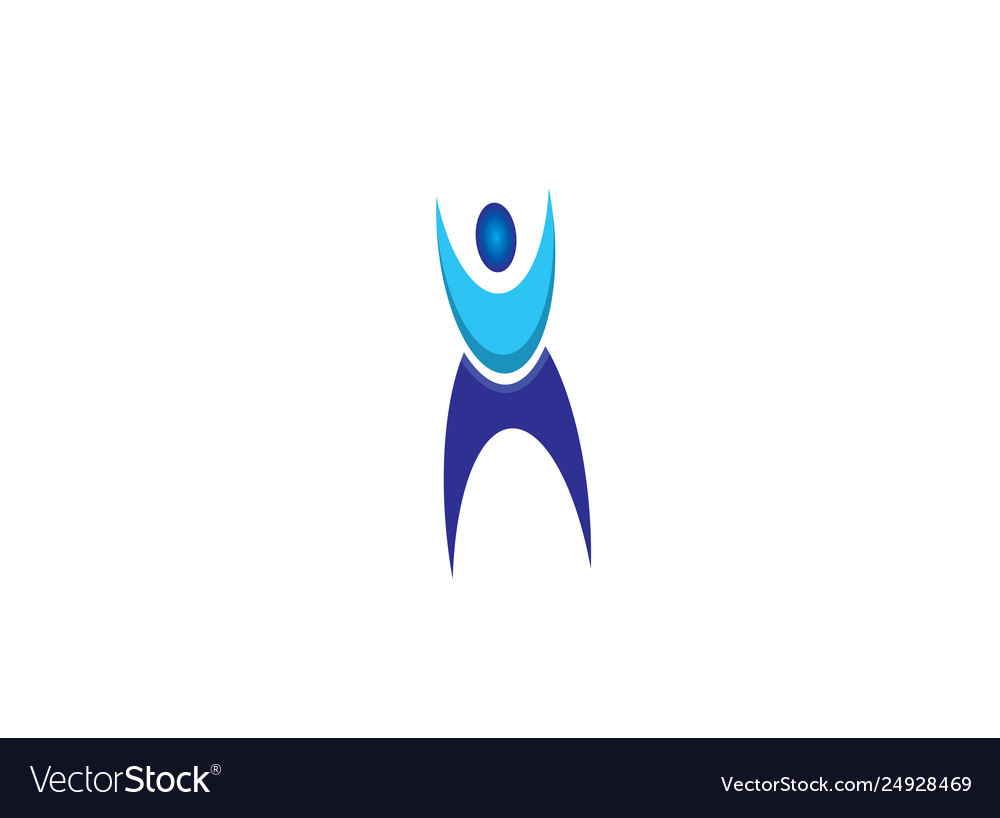 Athlete person put hands up in air for logo