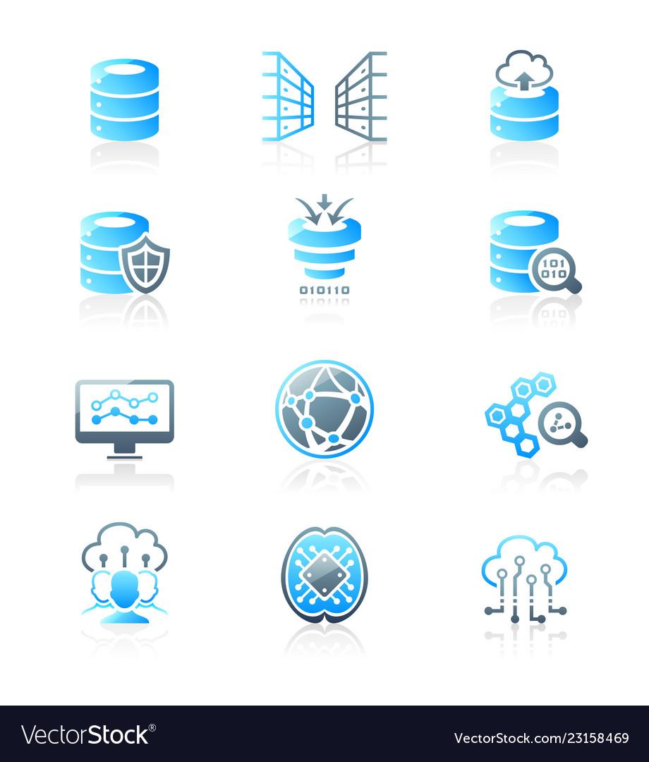 Big data icons - marine series