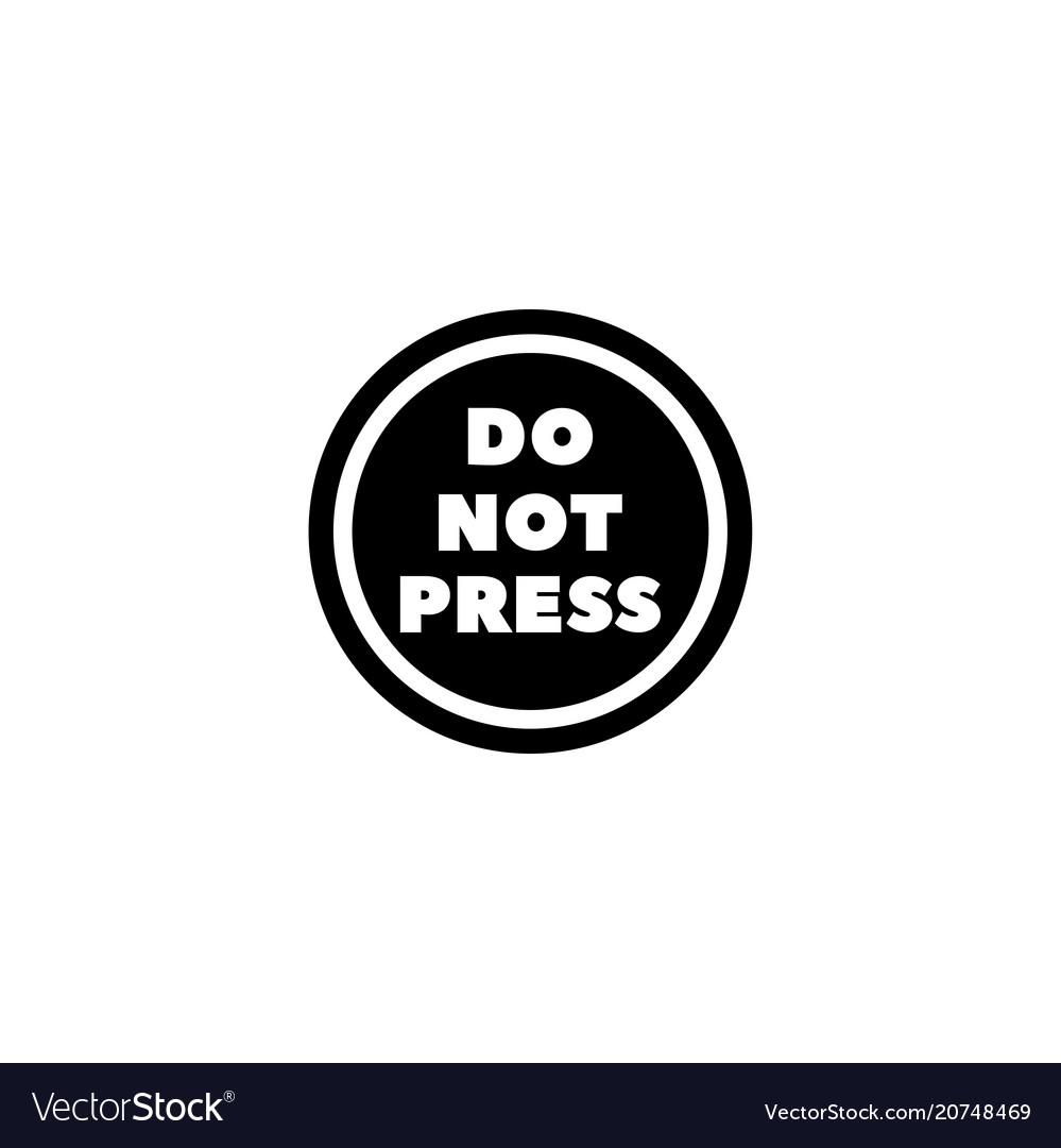 Do not press button flat icon