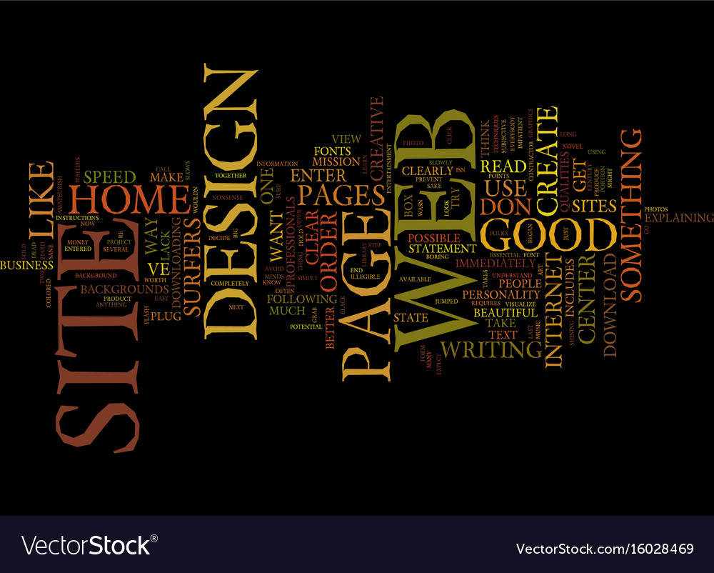 Good Web Site Design Text Background Word Cloud