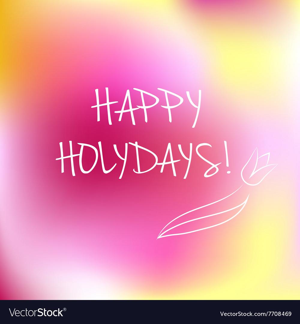 Happy Holidays logotype