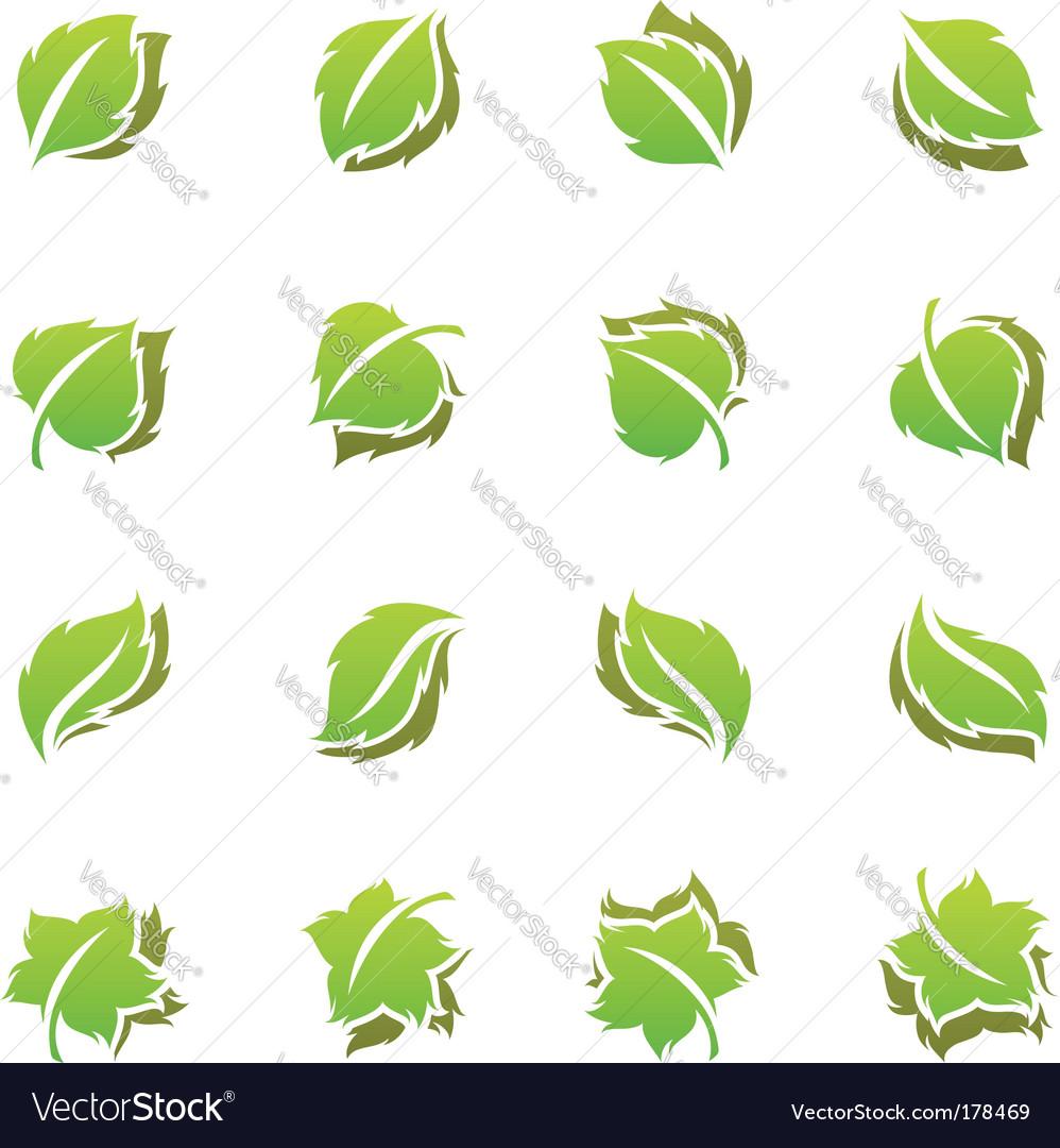 Leaves template set