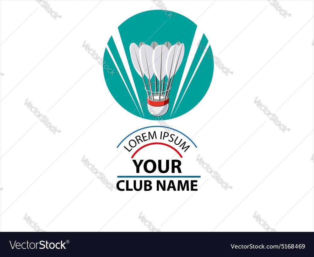 Logo Badminton Club vector image
