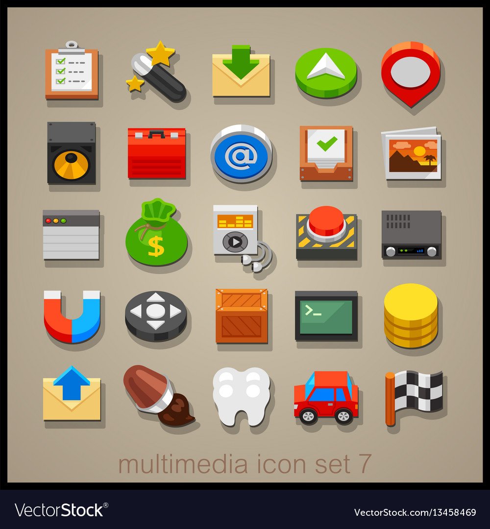 Multimedia icon set-7