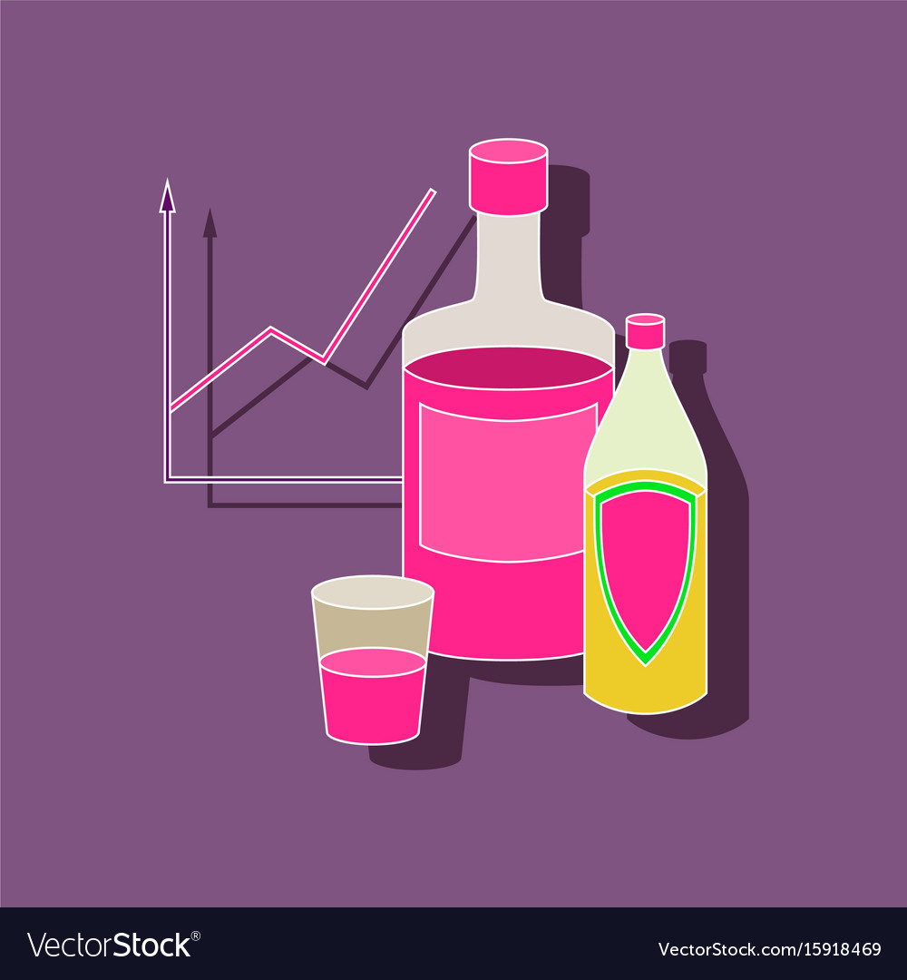 Paper sticker on stylish background alcohol vector image