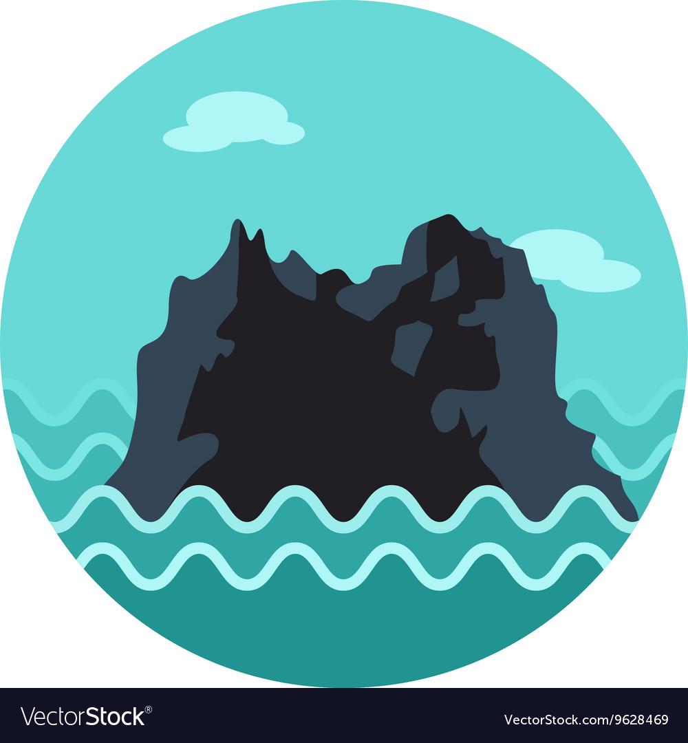 rocks in the sea icon summer vacation royalty free vector rh vectorstock com Rock Guitar Vector free vector rockstar