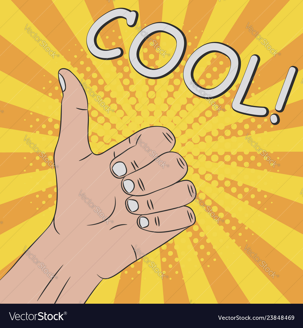 Thumb up hand gesture - cool