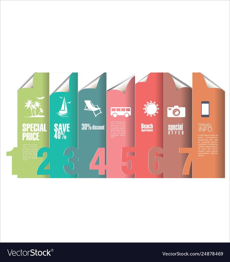 Tourist infographic modern design