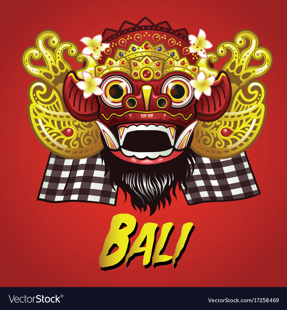 Traditional balinese barong mask