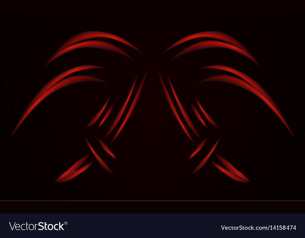 Digital red lines color form technology modern vector image
