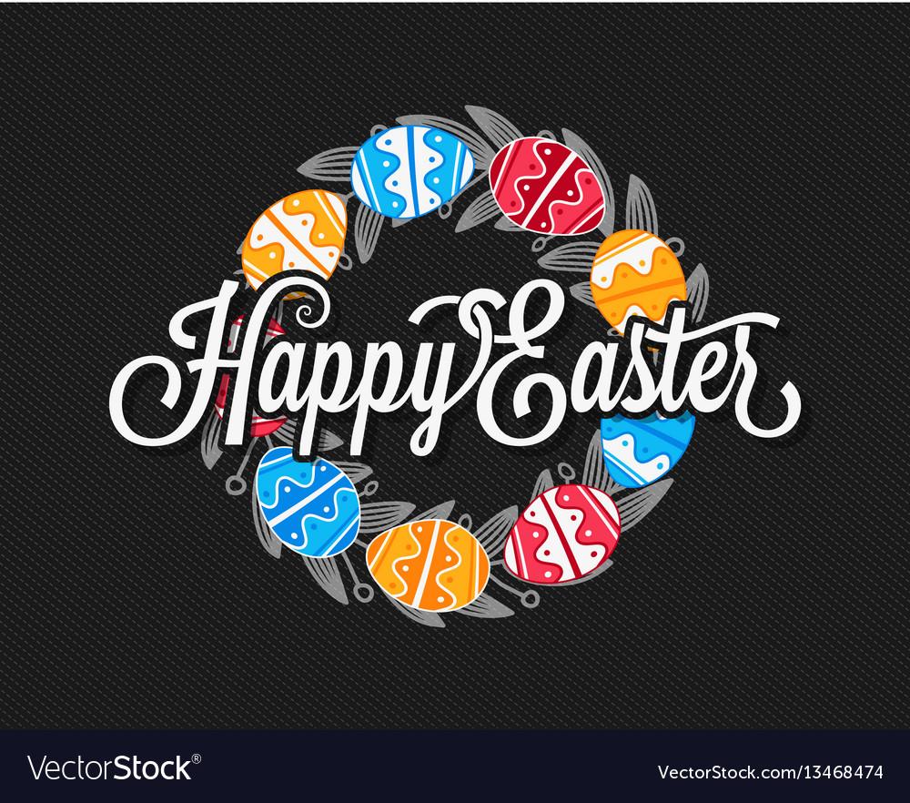 Easter eggs vintage design background