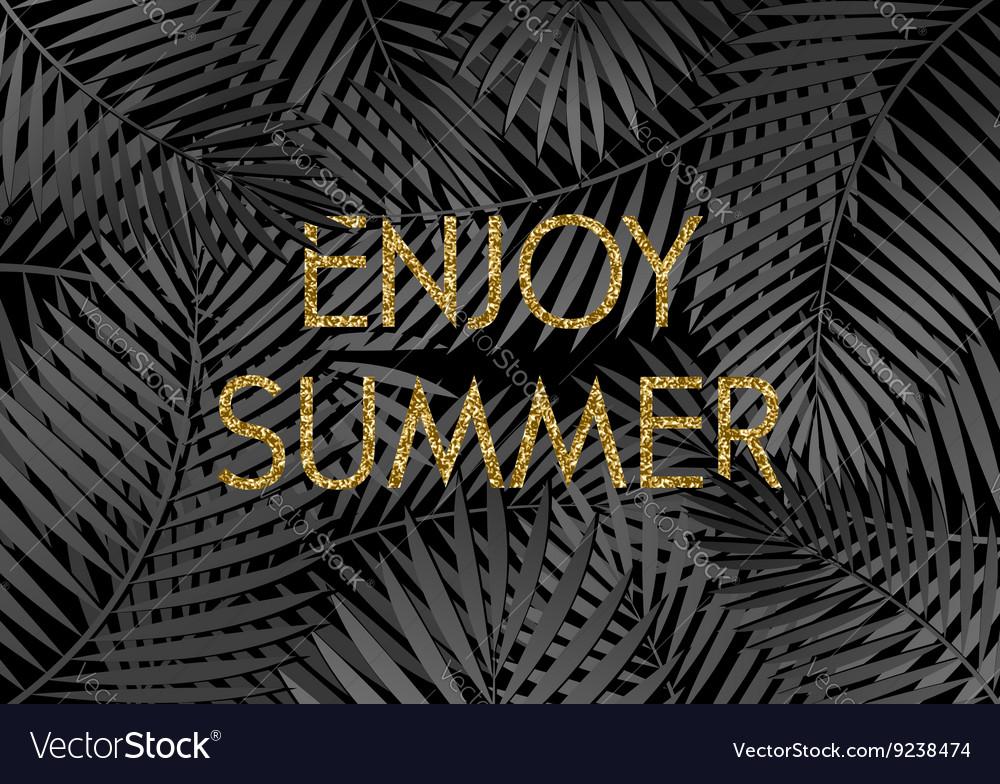 Enjoy Summer Poster Design vector image