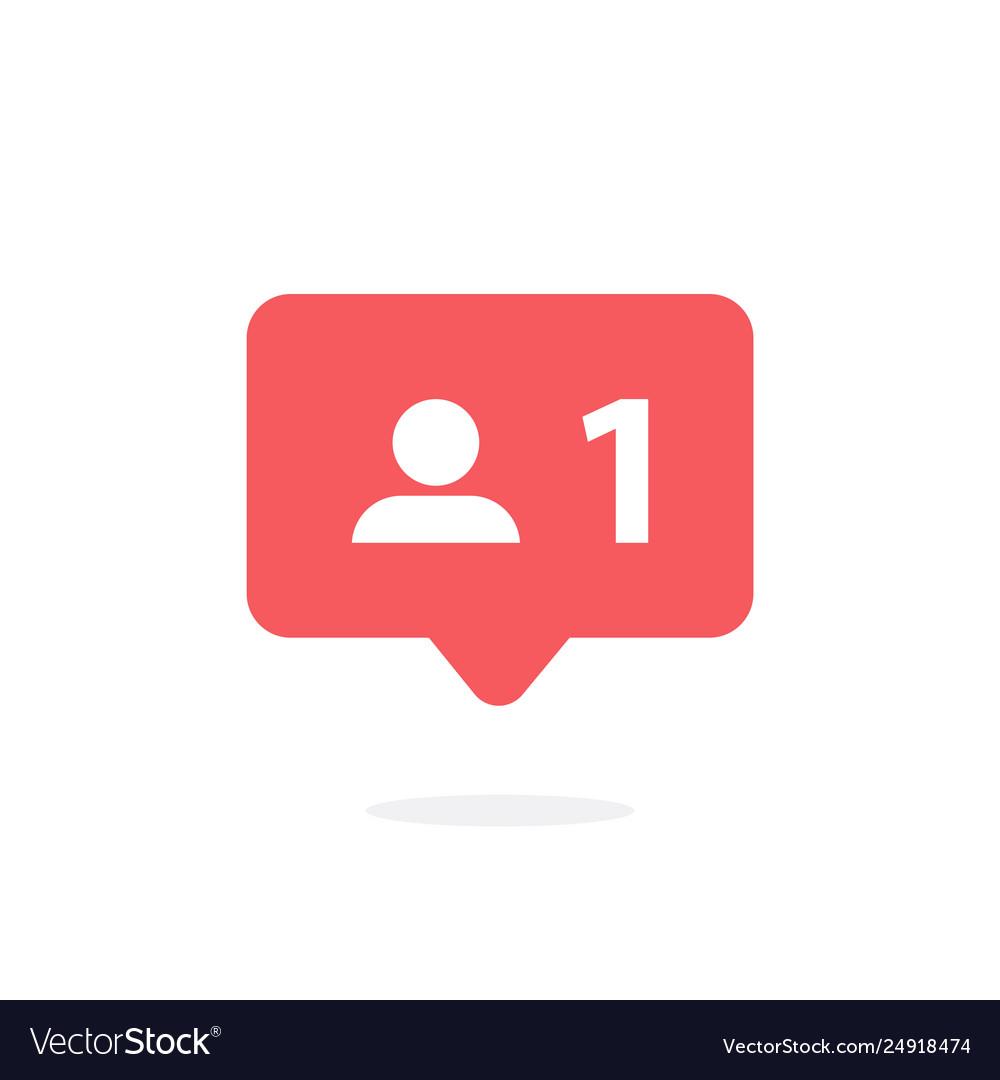 Follower notification social media icon user