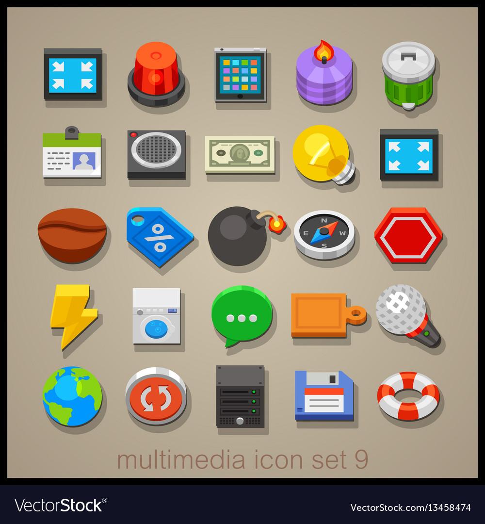 Multimedia icon set-9