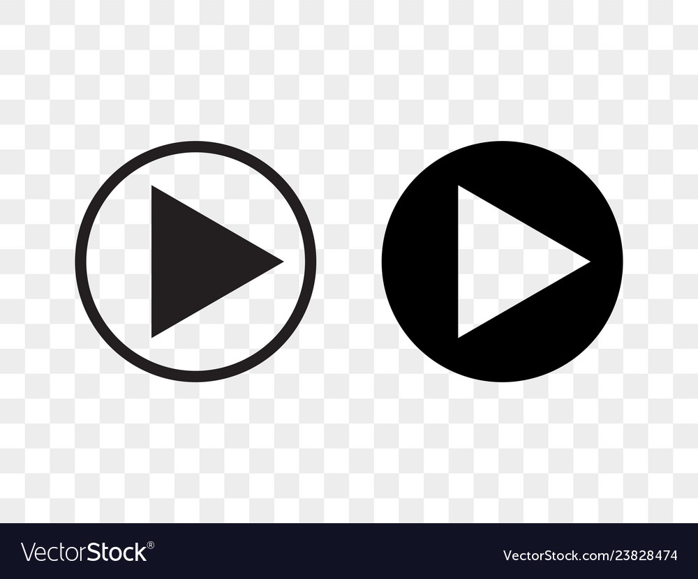 Play button icon music audio and video player