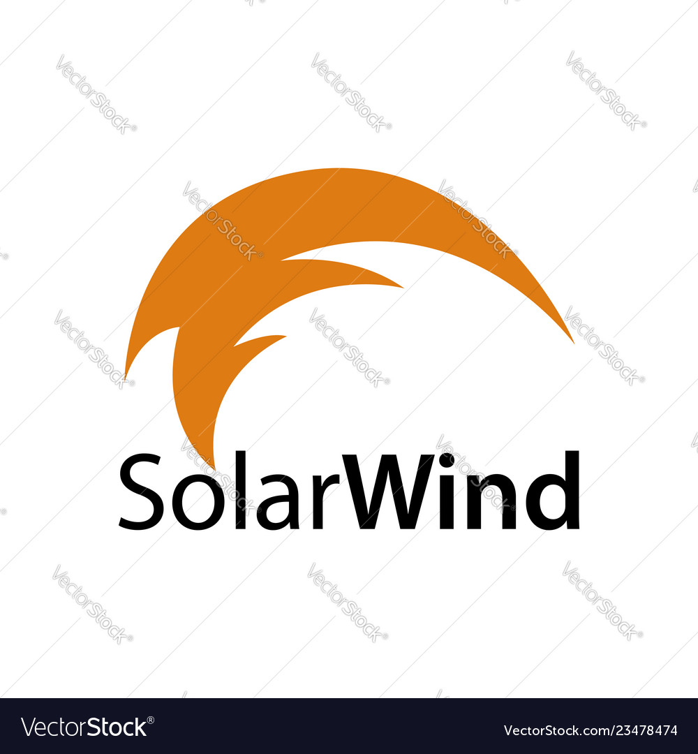 Solar wind abstract solar wind icon logo concept