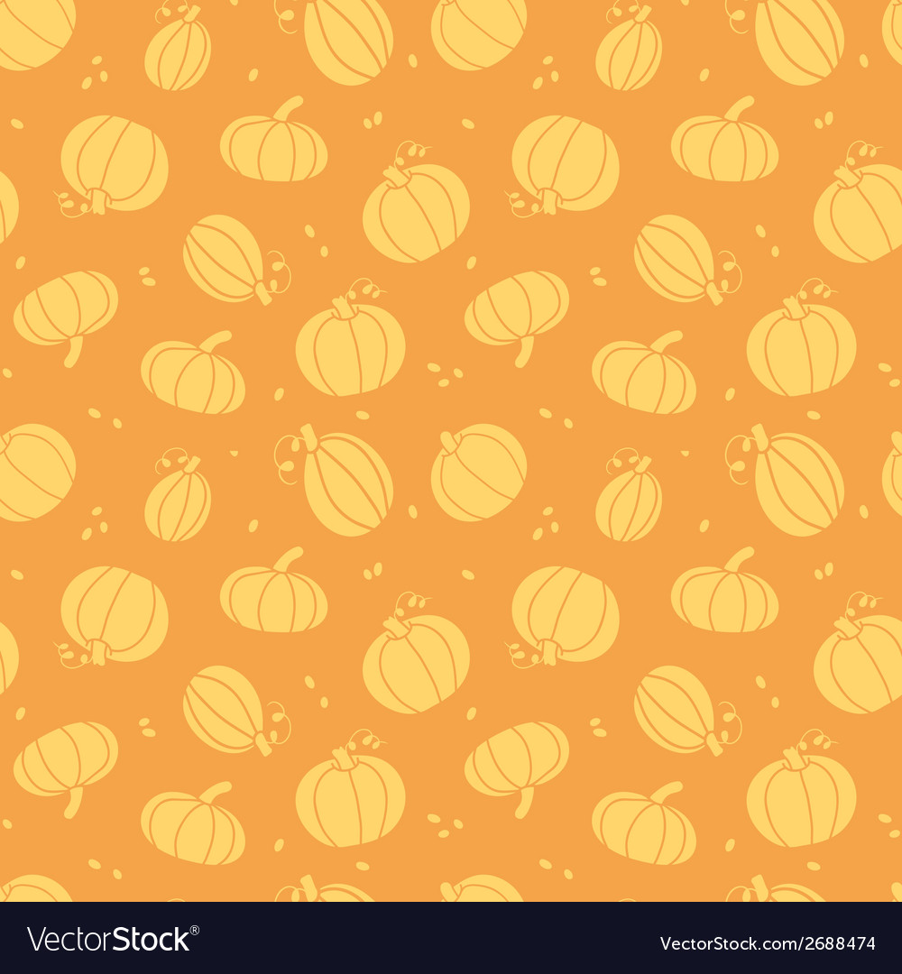 Thanksgiving golden pumpkins seamless pattern