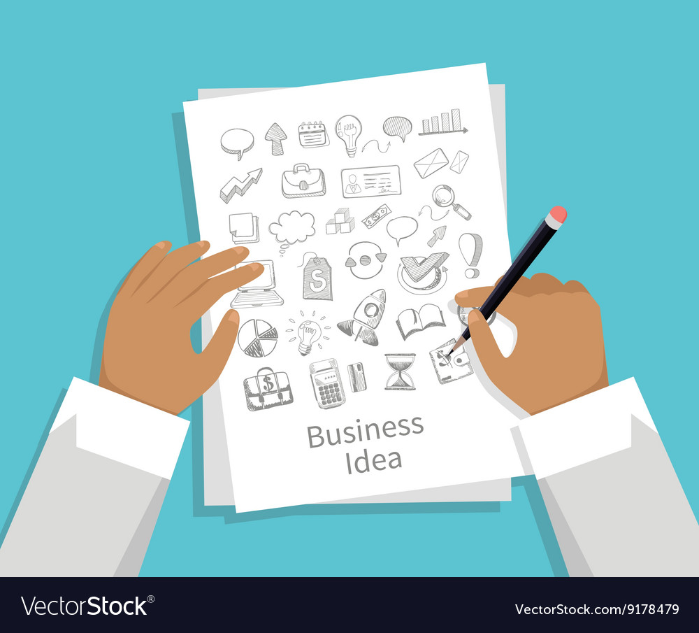 Business Idea Set of Icon Hand Draw