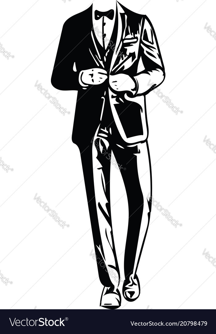 Business man black silhouette