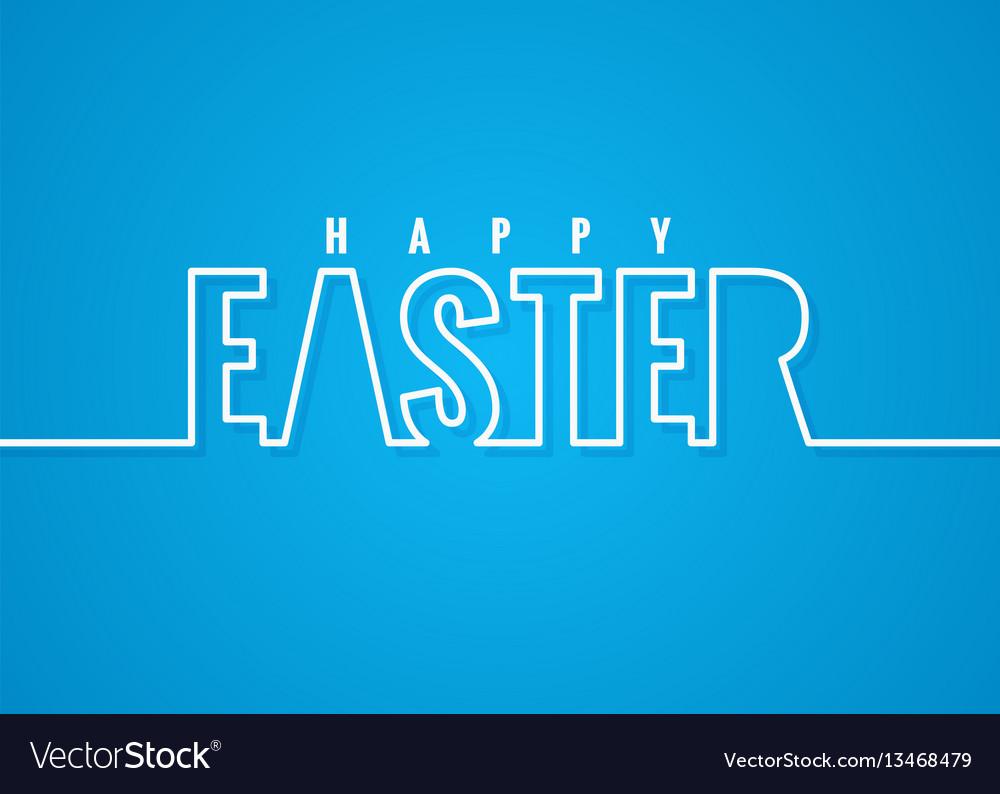 Easter line lettering poster background