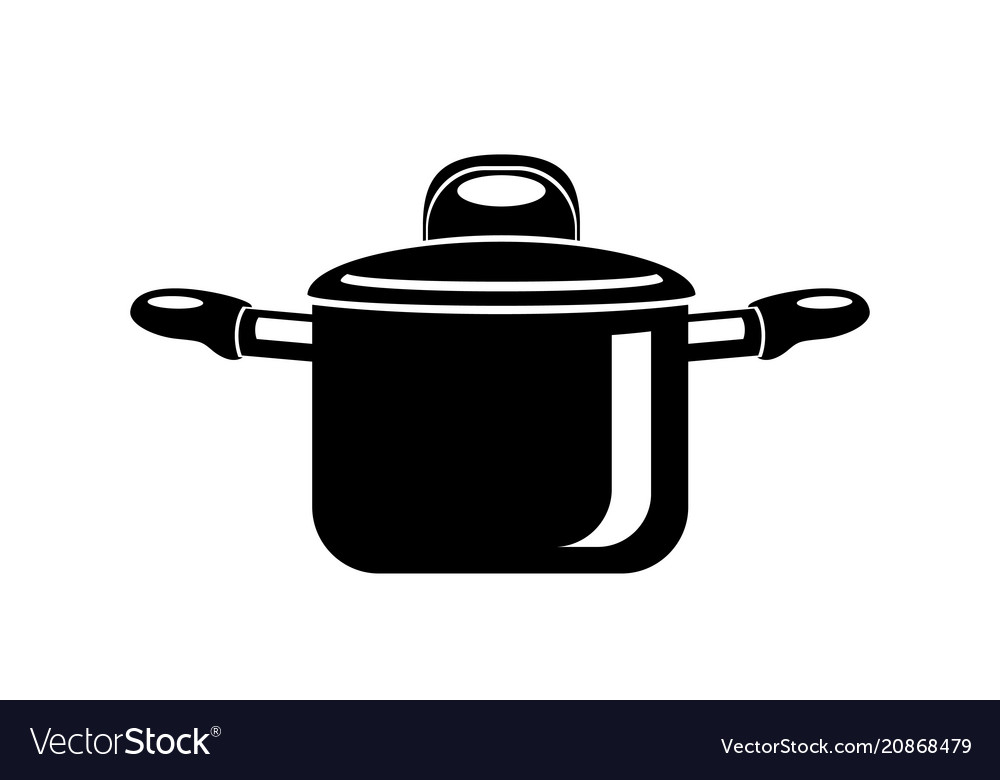 Frying hot saucepan cook pan icon simple style