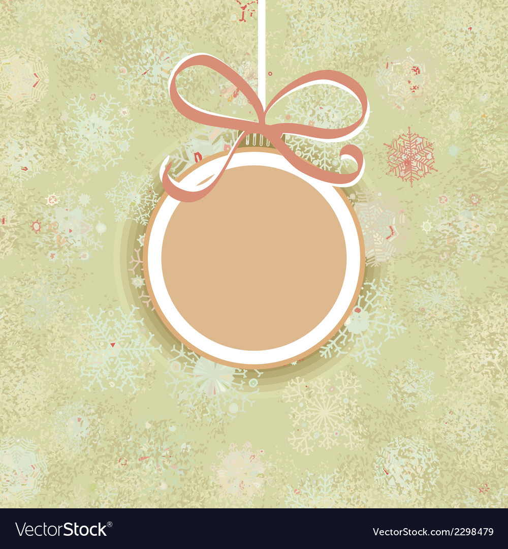 Retro Christmas ornaments EPS8 vector image