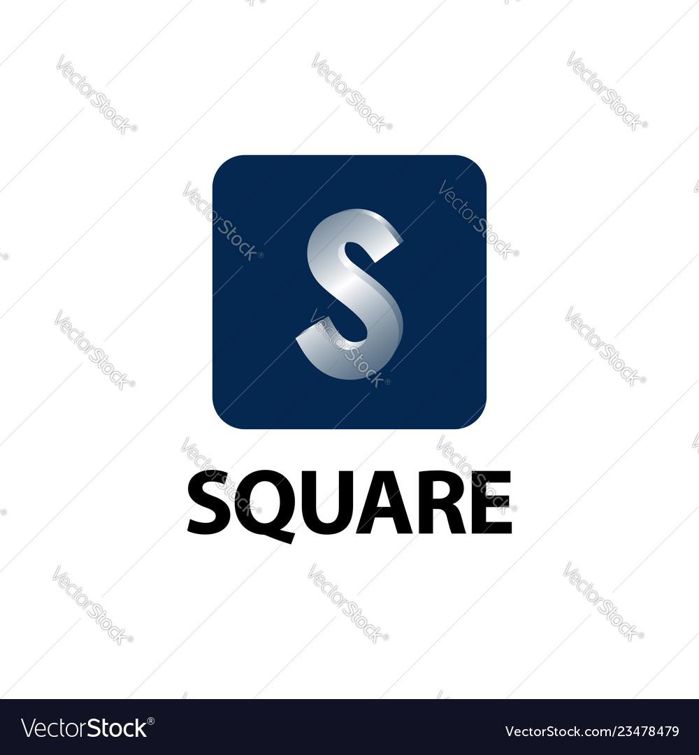 Square shiny initial letter s logo concept design