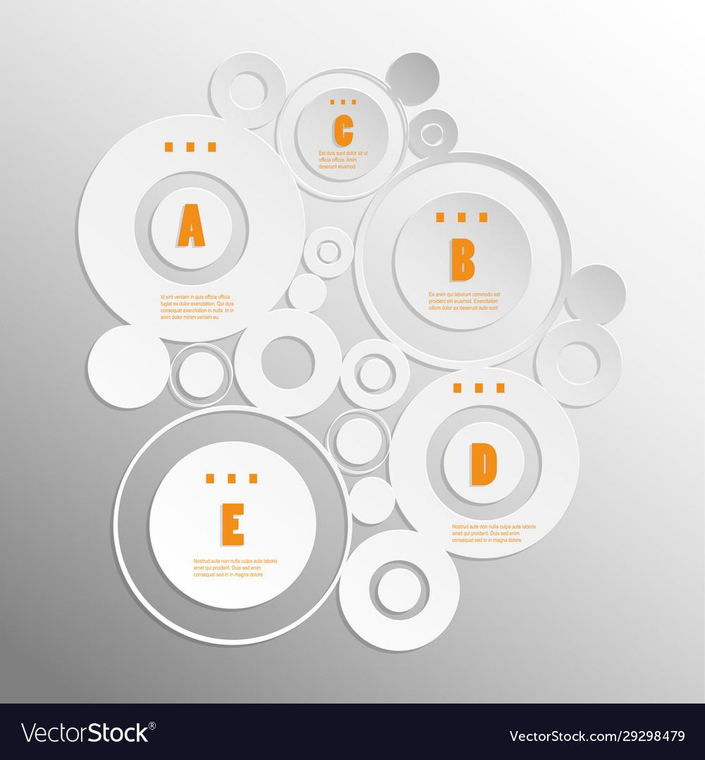 White circular business infographic design