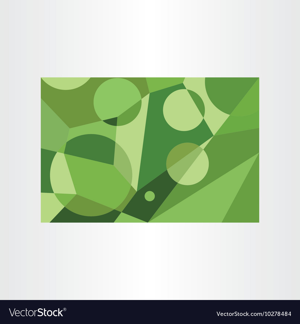 Abstract green geometric background element vector image