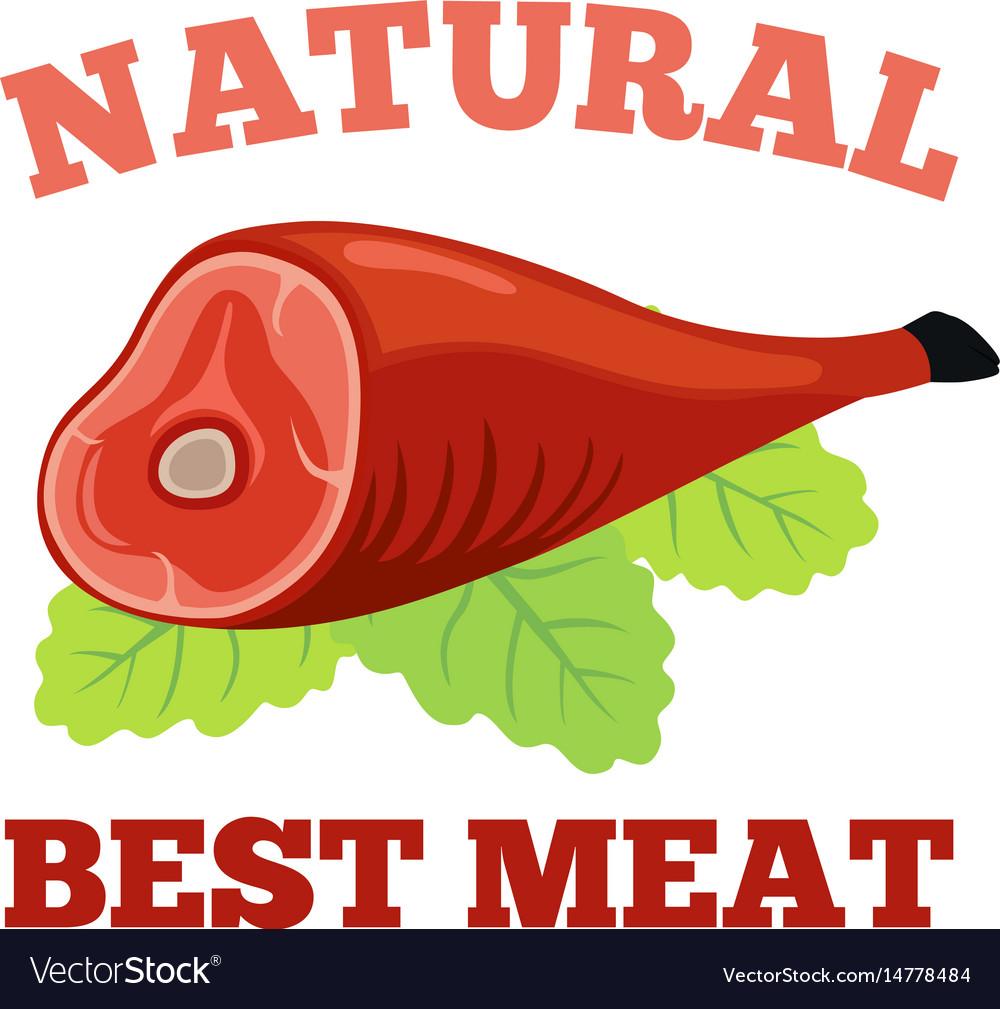 meat logos labels fresh meat pork in flat style vector image vectorstock