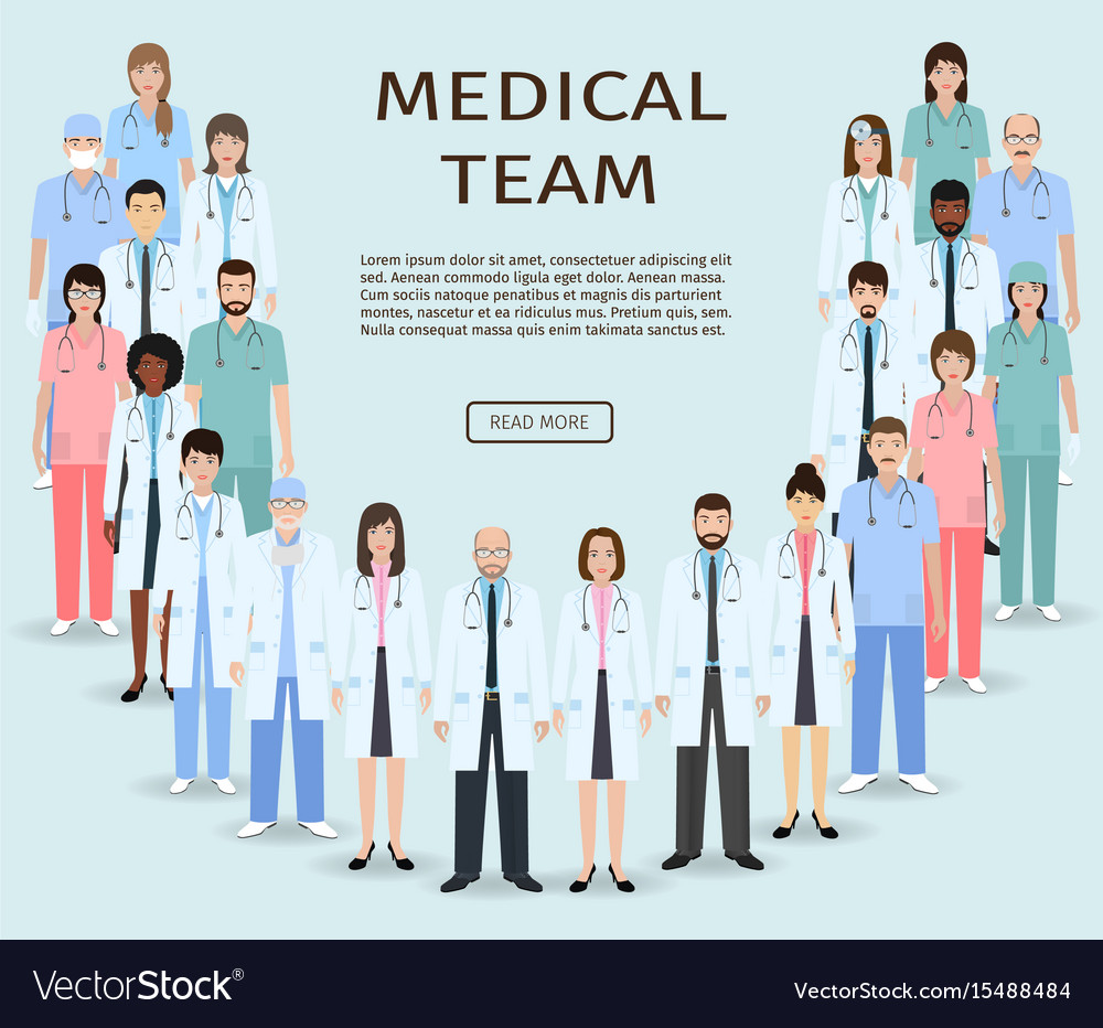 Medical team group doctors and nurses standing