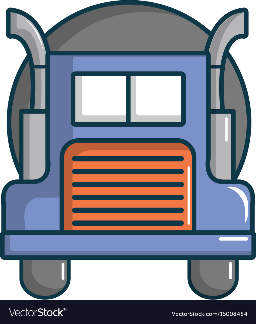 Oil tanker truck icon cartoon style