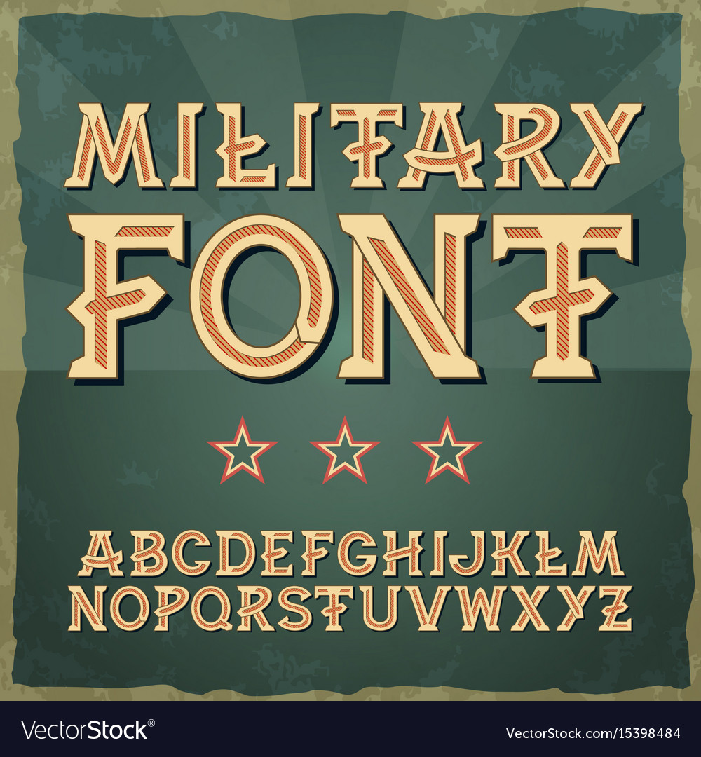Retro type font vintage typography vintage