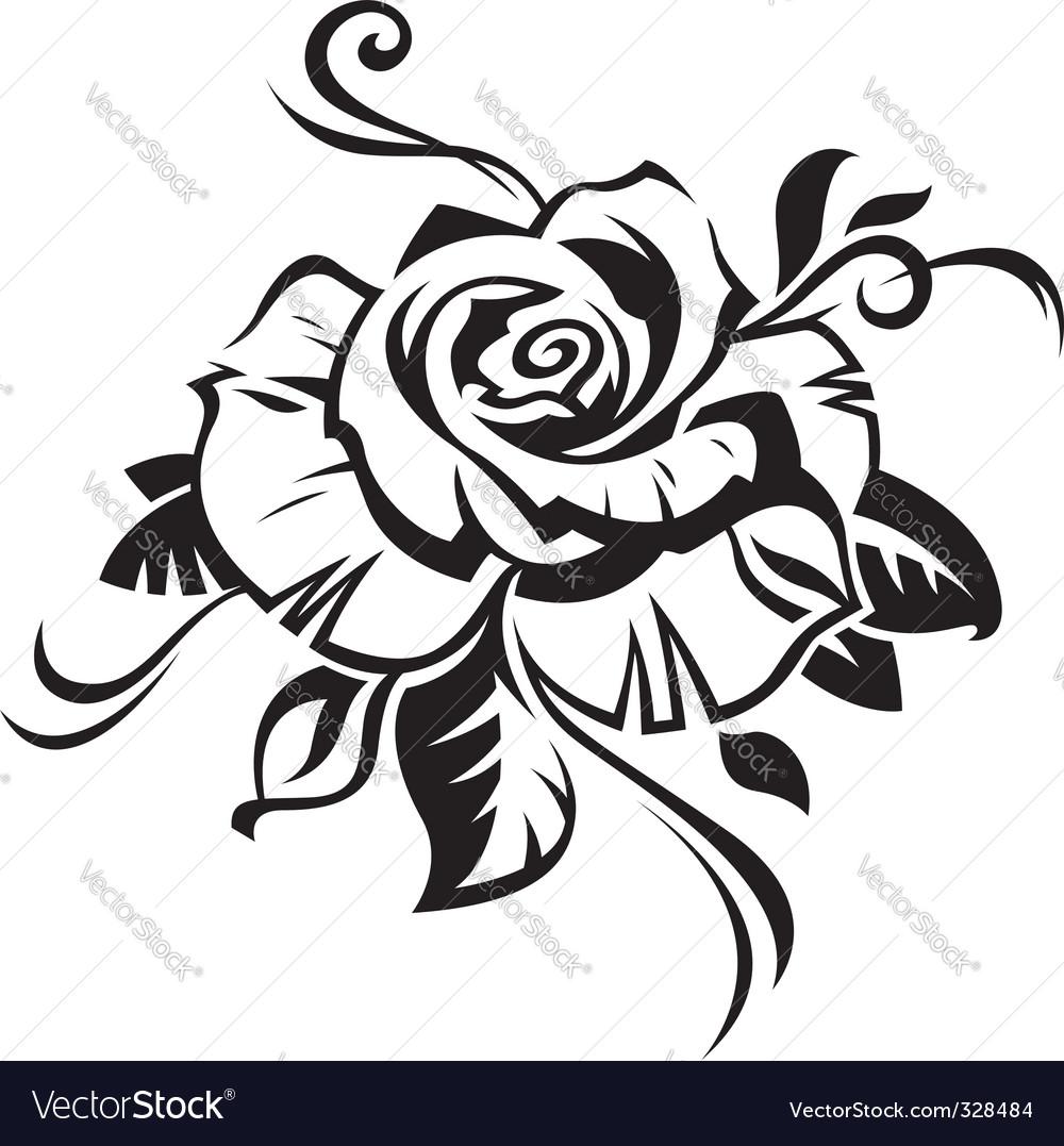 Rose royalty free vector image vectorstock rose vector image voltagebd Gallery