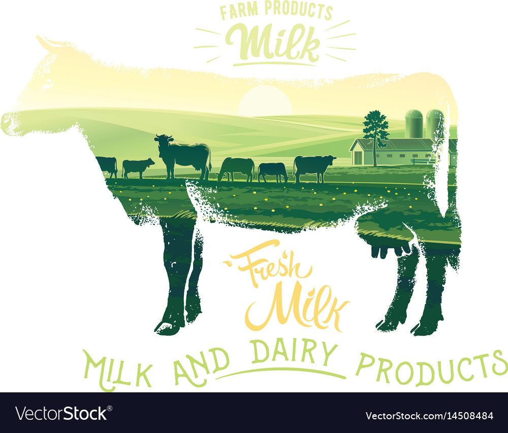 Silhouette of a cow on a white background