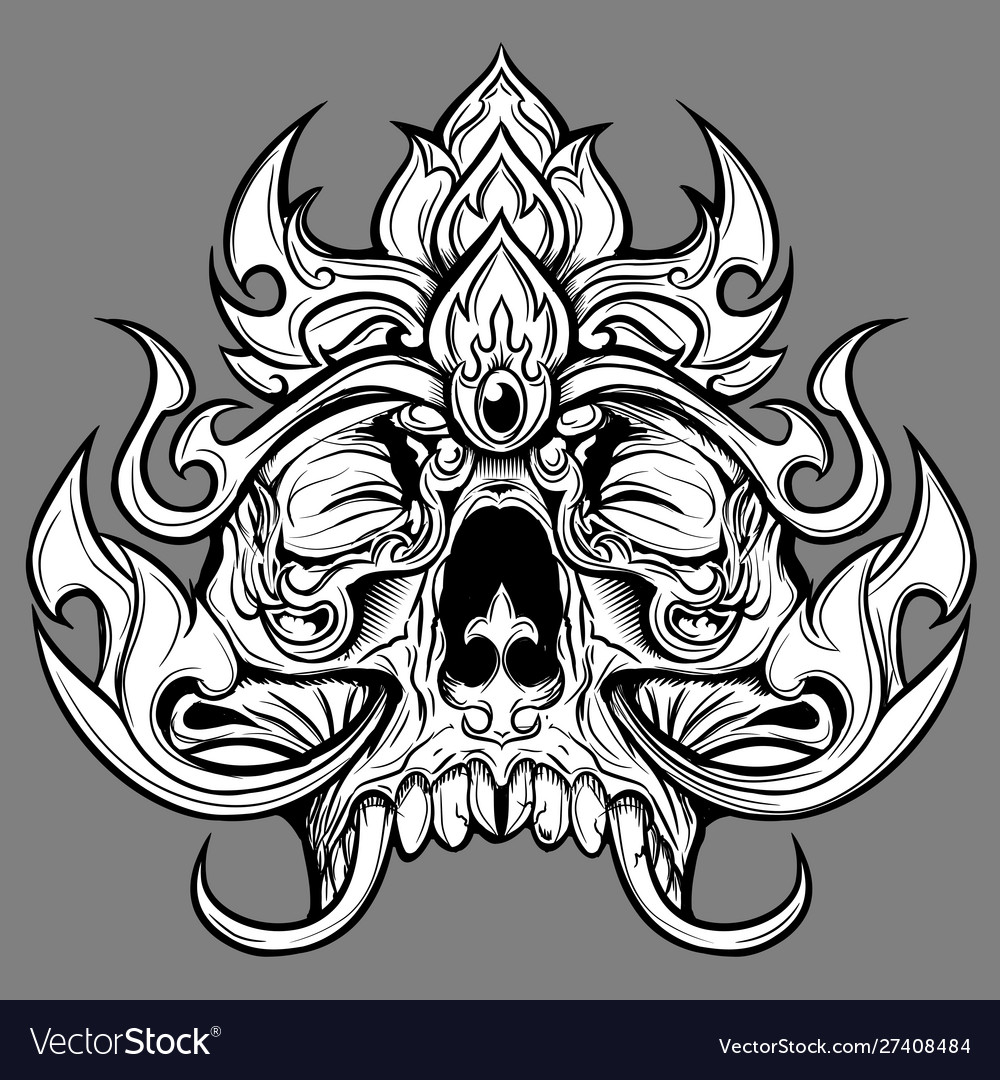 Skull line thai