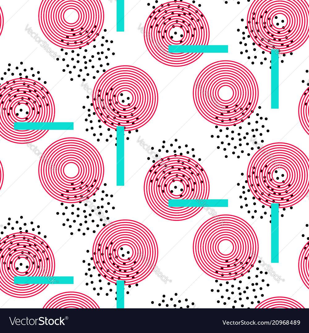 Abstract circles bright seamless pattern