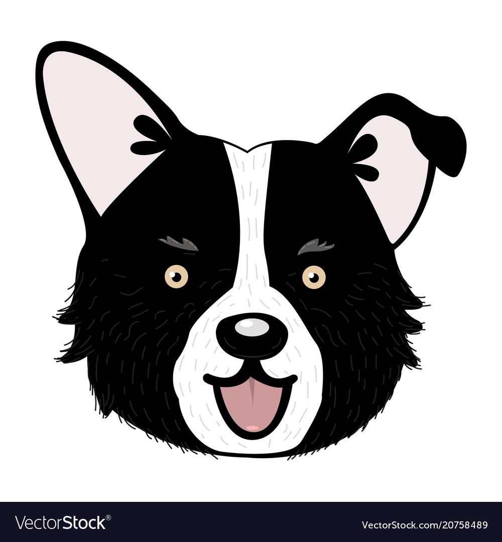 Cute cartoon puppy dog vector image