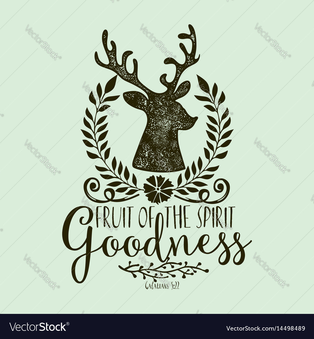 Fruit of the spirit goodness vector image
