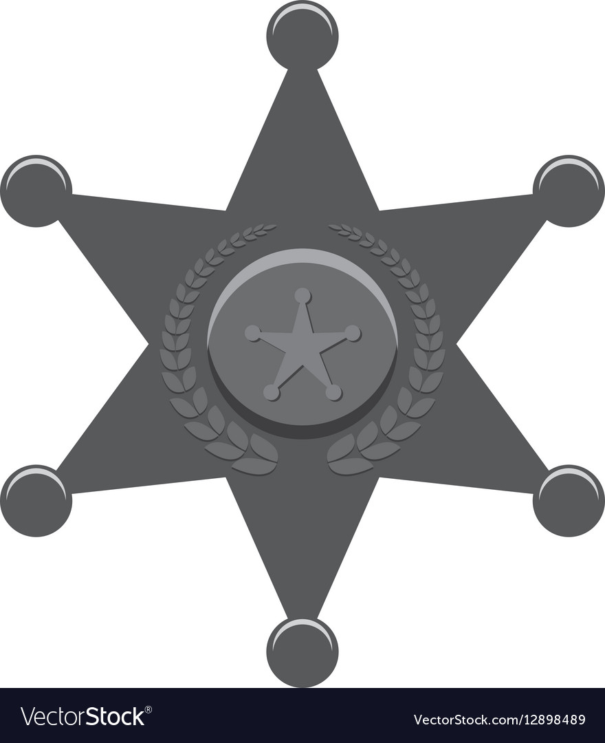 Grayscale police bradge icon design