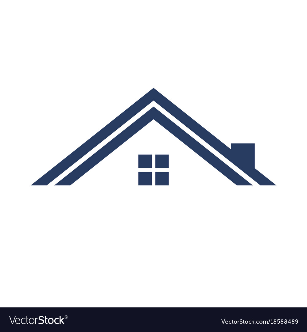 Minimalist Roof Simple Graphic Royalty Free Vector Image