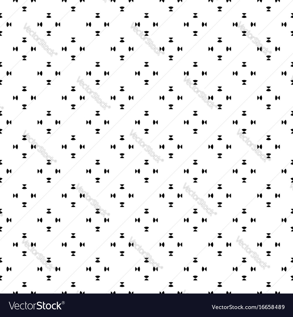Minimalist seamless pattern black white shapes vector image